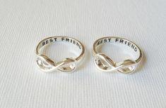 Set of 2 Best friend infinity rings infinity by LaLaSilverJewelry, $16.80