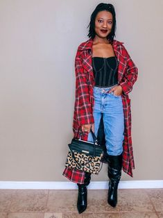 Where style meets real life! Fall Outfits, Casual Outfits, Plaid Outfits, Black Women Fashion, Womens Fashion, Autumn Fashion, How To Wear, Homemade, Style