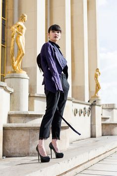 Kozue Akimoto is seen before the Ann Demeulemeester show during Paris Fashion Week Womenswear Fall/Winter 2017/2018 on March 2 2017 in Paris France #PFW #StreetStyle