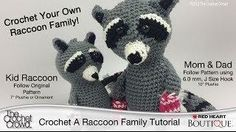 Crochet Your Own Raccoon Family for Christmas with Mikey from @The Crochet Crowd