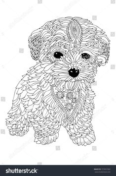 Dog Coloring Books for Adults Hand Drawn Dog Sketch Antistress Adult Stock Vector Royalty Blank Coloring Pages, Dog Coloring Page, Printable Adult Coloring Pages, Disney Coloring Pages, Mandala Coloring Pages, Animal Coloring Pages, Coloring Books, Colouring, Coloring Pages For Adults