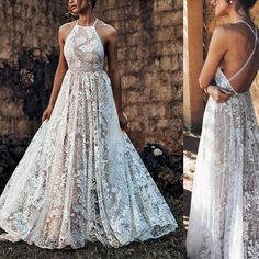 A-Line Wedding Dress with Lace, Backless Wedding Bride Dress, Unique Wedding Dresses Ivory Lace Wedding Dress, Elegant Wedding Gowns, Maxi Dress Wedding, Luxury Wedding Dress, Long Wedding Dresses, Lace Dress, Backless Wedding, Gown Wedding, Formal Wedding