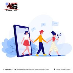 Social media in refer a friend concept Free Vector Art And Illustration, Flat Design Illustration, Free Illustrations, Creative Illustration, Refer A Friend, Web Layout, Design Layouts, Website Layout, Wale