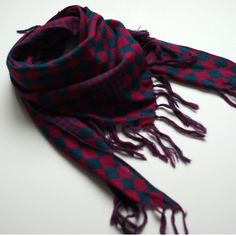 Checkered Scarf Pink/Olive