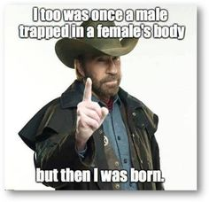 #ChuckNorris #Transvestite #Transgender