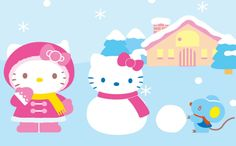 Hello Kitty Christmas, Hello Kitty Images, Christmas Cartoons, Sanrio, Kawaii, Cats, Beer, Fictional Characters, Friends
