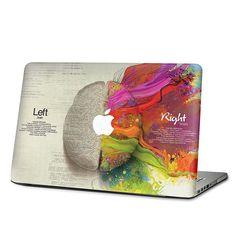 "Amazon.com: 13"" MacBook Pro (NON Retina) - Left Right Brain Creative Skin Vinyl Decal Laptop KMB-071: Everything Else"