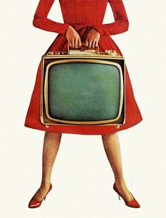 A portable TV so you could watch shows almost anywhere. Easy to carry the handle made it so darn fun. (a little before my time, but still)