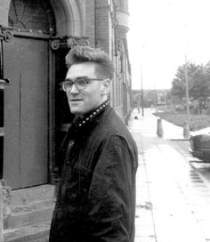 Morrissey of The Smiths during the shoot for 'Stop Me If You Think You've Heard…