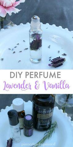 Lavender & Vanilla DIY Perfume  via @pinnedandrepinn
