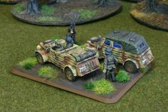German Scouts for Flames of War. Painted by Panzer Schule.