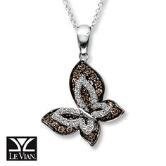 Le Vian Chocolate Diamonds® 14K White Gold 5/8 t.w. Necklace - I LOVE THIS!!