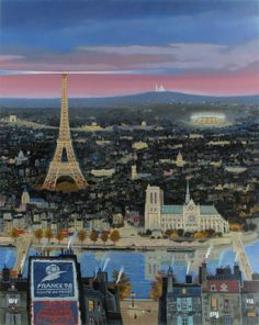 Michel Delacroix, World Cup 1998 - Paris, Serigraph on Paper, Limited Edition