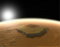 The Highest Mountain In The Solar System- Olympus is the highest mountain in the solar system located on Mars.