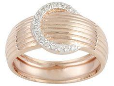 Bella Luce(R) Eterno(Tm) .20ctw 18k Rose Gold Over Sterling Silver Ring