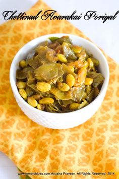 Chettinad Avarakkai Poriyal is an easy semi dry curry made with Indian broad beans. This vegan and GF curry tastes great with hot rice and rasam Indian Vegetarian Dishes, Vegetarian Curry, Indian Food Recipes, Ethnic Recipes, Veg Stir Fry, Easy Stir Fry, Rice Recipes, Healthy Recipes, Healthy Foods