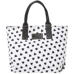 84f65919c45 STEPHANE VERDINO Cabas Medium Love Canvas Tote ( 69) ❤ liked on Polyvore  featuring bags