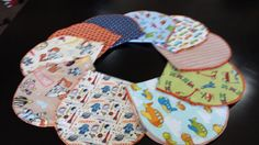 Set of 10 Baby Burp Cloths by ohSEWcuddly on Etsy