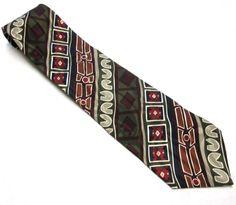 Vintage Necktie Silk Tie 4  Wide Black Red by sweetie2sweetie, $12.99