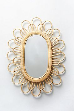 Midcentury Wicker Mirror - anthropologie.com