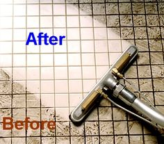 #Cleaning Grout-Regular spraying with lemon juice, vinegar or alcohol keeps mold and mildew at bay. to clean, use 7 cups water, 1/2 cup baking soda, 1/3 cup lemon juice and 1/4 cup vinegar - throw in a spray bottle and spray your floor, let it sit for a minute or two... then scrub :)