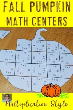 These Multiplication Pumpkin Puzzles are great for fall math centers, review, early and fast finishers, enrichment, GATE, and critical thinking skills. Any student that needs a lesson in perseverance will benefit from these puzzles. With this fun game format your students will stay engaged while practicing necessary skills! Use them in your third or fourth grade classroom! Low prep - just print, cut, and go! Print on cardstock and you have games that last a LONG time! 3rd & 4th Grade $