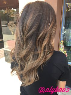 Light brown balayage Hair by: Aly Tompkins Mon Amie Salon Redlands CA…