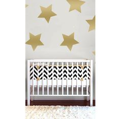 Oversized Gold Star Wall Decals - these make a big impact for a small price in the nursery or kids room!
