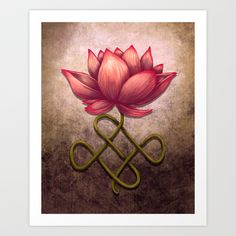 Lotus Flower Art Print by Britany Derr - love the flower part for a tattoo maybe?