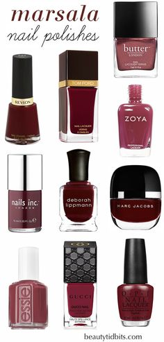 Best Marsala nail polishes