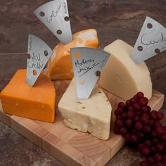 Stainless Steel Cheese Markers - cute for a cocktail party