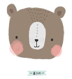 Lámina bear by Aless Baylis of This is Gold So cute! Children's Book Illustration, Character Illustration, Baby Posters, Motifs Animal, Bear Art, Kids Prints, Cute Characters, Nursery Art, Cute Drawings