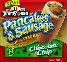 Pancake & Sausage on a Stick..lol grosss