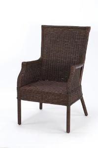 Loft Wicker Club Chair-Available in Various Finishes. Product in photo is from www.wellappointedhouse.com