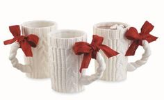 Ceramic Cable Knit Mug $11.99 each