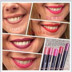 Beautiful lip liner colors, and waterproof get yours at www.youniqueproducts.com/MNMel