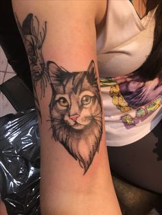 #tattoo #cat #tattoocat #tattoogato #gato #tatuajes #tattoo Tattoo Cat, Tatuajes, Cats, Cat Tat, Cat Tattoo