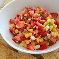 Smoky Strawberry and Corn Salsa