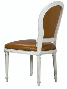 St.Pierre chair| Mark Nikes, Henredon| Weathered White. Available with Optional Slip Cover