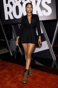 Only Nicki Minaj Could Make The World's Shortest Dress Look This High Fashion