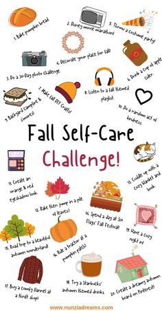 fall bucket list Autumn is truly the dreamiest season of all! This year, get cozy and revamp your self care routine with a festive fall bucket list challenge! Herbst Bucket List, List Challenges, Autumn Aesthetic, Happy Fall Y'all, Autumn Activities, Autumn Theme, Fall Halloween, Halloween Night, Self Care