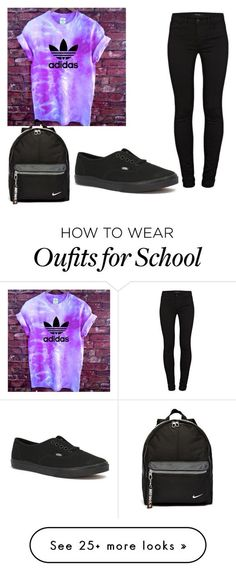 """Back to school"" by americangirla on Polyvore featuring J Brand, Vans and NIKE:"