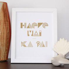 Haere Mai & Ka Pai - Print