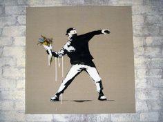 Banksy art: Flowerchucker