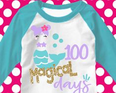 Excited to share the latest addition to my #etsy shop: 100 days svg, 100th day of school svg, mermaid svg, 100 magical days svg, school, 100 days, SVG, DXF, EPS, 100 days shirt, girls svg, cutter #supplies #kidscrafts #svg #100dayssvg #100daysofschool #100thday #shirt #svgforgirls #100thdaysvg