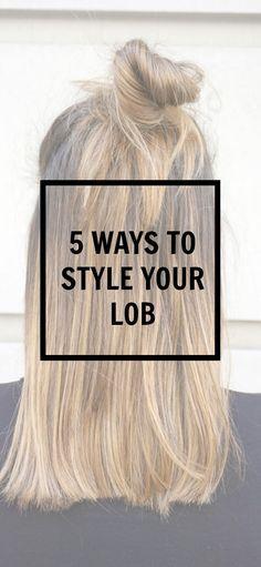 5 ways to style your lob | long bob- hair style | balayage