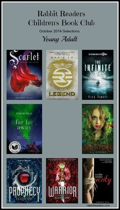 October 2014 selections, Young Adult, Rabbit Readers Children's Book Club