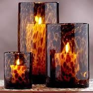 Tortoise shell candle vases