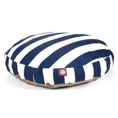 You should see this Vertical Stripe Round Dog Bed  in Navy on Daily Sales!