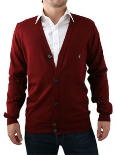 Gabicci Vintage Burgundy Cardigan Gabicci Vintage Cardigan - Mens cardigan from Gabicci Vintage - Fitted style with a small metal G logo on chest - 5 button placket - Ribbed cuffs and hem - Product Code: GABGVG23BU - Material: 50 http://www.comparestoreprices.co.uk/mens-clothes/gabicci-vintage-burgundy-cardigan.asp